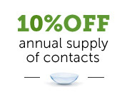 pearle vision offer - 10% off annual supply of contact lenses