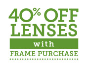 pearle vision offer - 40% off lenses with frame purchase