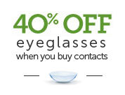 pearle vision offer - 40% off eyeglasses when you buy contacts